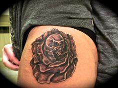 #tattoo #skull #rose