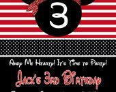 Mickey pirate invite