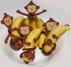Good Healthy Snacks, Healthy Meals For Kids, Kids Meals, 1 Year Old Birthday Party, Monkey Birthday Parties, Jungle Party, Safari Party, Preschool Crafts, Crafts For Kids