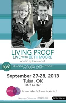 Who wants to plan a trip to Tulsa with me next year?       Beth Moore is coming to Tulsa September 27-28, 2013!