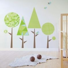 Image of Lollypop Popsicle Tree Removable and Reusable Wall Decal Kids Nursery