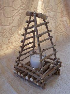 Wooden Candleholder Summer Decor Beach Decoration by SteliosArt