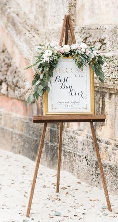 Wedding ceremony sign idea; featured photographer: Shea Christine Photography