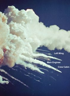 The intact crew cabin was seen exiting the cloud by a tracking camera after its - Whirlpool Galaxy-Andromeda Galaxy-Black Holes Challenger Explosion, Space Disasters, Space Shuttle Challenger, Moon Missions, Kennedy Space Center, Space And Astronomy, Nasa Space, Space Rocket, Astronaut
