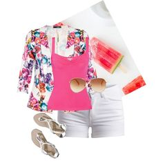 summer pink by design-21 on Polyvore featuring polyvore fashion style Valentino Quiz Pieces Abercrombie & Fitch Tommy Hilfiger