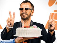 """Image Credit: John Shearer/WireImage.com; Cake: Stone Sub/Getty ImagesLet's all wish a hearty """"Happy birthday!"""" to Ringo Starr, who was born Richard Starkey exactly 70 years ago today. This milestone will no doubt make many people other than the legendary drummer feel old."""