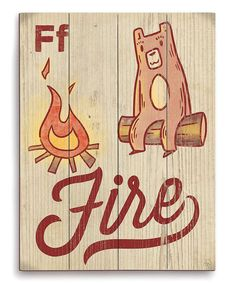 Look at this #zulilyfind! F Is for Fire Wall Art by Image Canvas #zulilyfinds