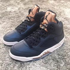 brand new a6462 10bb9 Air Jordan 5 Retro - Bronze Metallic Blue Nike Men s Sz 11.5  fashion   clothing