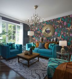 80 Stunning Colorful Living Room Decor Ideas And Remodel for Summer Project 45 – Home Design Living Room Decor Colors, Colourful Living Room, Room Colors, Home Living Room, Interior Design Living Room, Living Room Designs, Curtains In Living Room, Home Decor, Home Design Decor