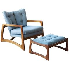 Walnut Lounge Chair and Ottoman by Adrian Pearsall 1