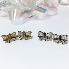Put a Bow On It!  Shop the must-have winter accessory for your daughter https://www.etsy.com/listing/251272593/14k-white-or-rose-gold-black-and-white?ref=related-2