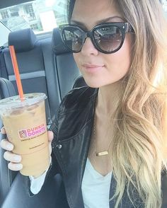 When you're so excited about Dunkin Donuts opening a store in your city that you just have to take a selfie with your first coffee ☕️ #dunkindonuts #selfie #icedcoffee #coffeeaddict
