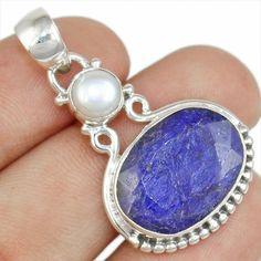 Sapphire & Pearl 925 Sterling Silver Pendant Allison Co Jewelry Sp-2160 #Allisonsilverco