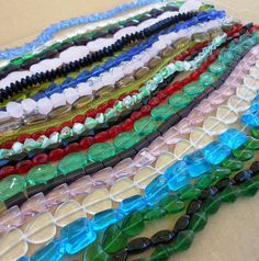 glass beads  wholesale LOT of 24 strands mixed by PalomaAntigua, $24.00