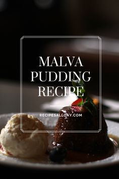 This spongy pudding with its hot syrup is delicious on cold evenings – or absolutely any time. Sticky Pudding, Malva Pudding, Milk And Eggs, Pudding Recipes, Saturated Fat, Other Recipes, Custard, Tasty Dishes, Syrup