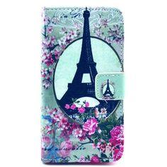 Eiffeltoren kunstlederen flip cover telefoon hoesje voor Sony Xperia Z1 Compact - PhoneGeek.nl