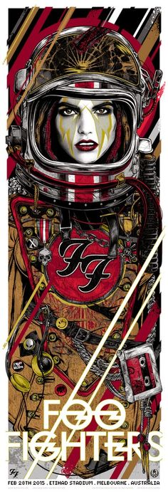 Rhys Cooper Foo Fighters Australia & New Zealand Tour Posters Release Details