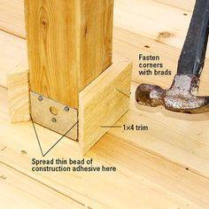 Deck Post Trim — Rolling Offset #buildingadeck