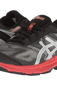 asics kids black shoes