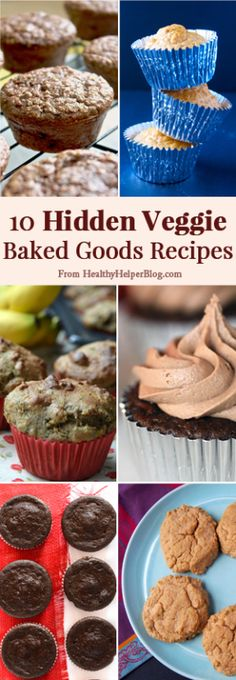 A roundup of 10 #baking recipes with hidden vegetables on Healthy Helper Blog