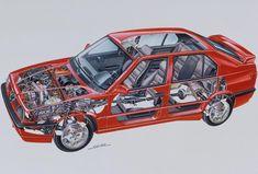 Alfa Romeo 33 S 16 V Quadrifoglio Permanent 4 Fiat Uno, Cutaway, Vw Polo G40, Foto Cars, Alfa Romeo Logo, Alfa Alfa, Peugeot, 16 V, Alfa Romeo Spider
