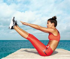 Simple Ab Moves (No Equipment Needed!): Try the 'Ab Splitter' to work your abs and hips #SelfMagazine