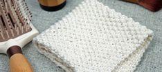 Seed Stitch Washcloth, Free Knitting Pattern