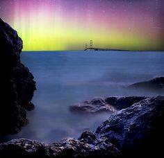 Northern Lights over the Mighty Mac