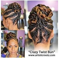 Twist Pony, Flat Twist Updo, Twist Braids, Flat Twist Styles, Fishtail Braids, Braid Hair, Corn Braids, Kid Braids, Small Braids