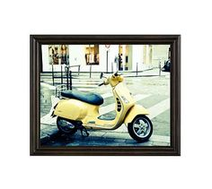 "Let It Ride by Rebecca Plotnick, 16 x 20"", Ridged Distressed Frame, Black, No Mat"