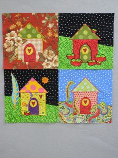 Sherrie loves color!: Chocolate for the New Year! (And quilted houses)
