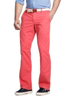 Bonobos 100% Cotton Red Boot Cut Washed Chinos (Redrums)    Pink pants?