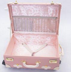 2013 Japanese LIZ LISA Fukubukuro handmade vintage trolley case suitcase luggage trolley bag