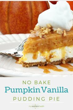 No-Bake Pumpkin Pie with Vanilla Pudding (and Cool Whip)