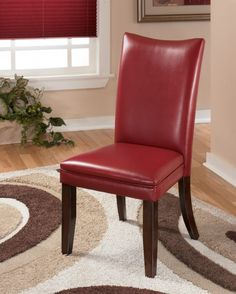 Dark Red Leather Dining Room Chairs