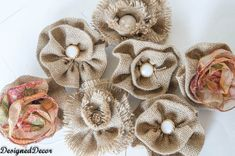 burlap flowers great tutorial