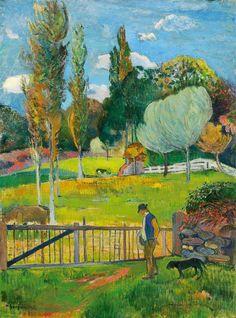 Paul Gauguin, Paysage, 1894, oil on canvas