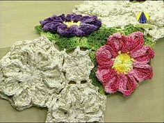 Vida com Arte | Mini Tapete com Flor em Crochê por Cristina Luriko - 20 de Agosto de 2014 - YouTube