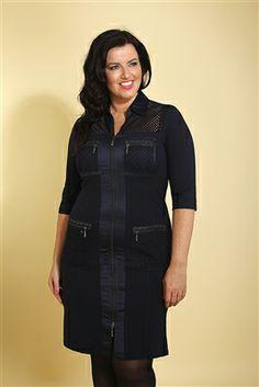 Plus Size Dress/ Curvy Fashion heavyweight jersey and satin dress