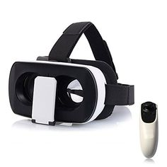Julyfox V3 3D Glass Virtual Reality VR Headset With Remote Control For iPhone 6s iPhone 6 Samsung S6 etc For Max 600 Degree Myopia ** Click image to review more details.