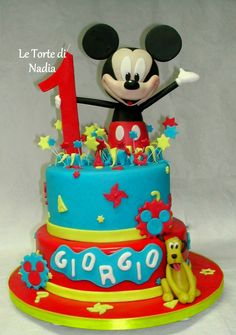 """Torta """"Topolino"""" Info: 389 9355816 anche WhatsApp #tortatopolino #mickeymousecake #torteartistiche #torte #cakes #tortebambini #topolino #mickeymouse"""