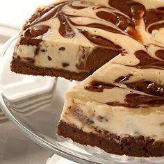 Chocolate Swirled Chocolate Chip Cheesecake