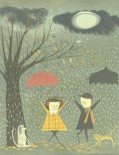 İşte böylede seviniriz biz yağmur yağınca..
