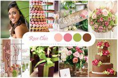 Розовый, зеленый, коричневый / Pink, green, brown