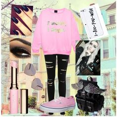 Untitled #58 by skohler0960 on Polyvore featuring polyvore fashion style Miss Selfridge Vans Wildfox Clarins