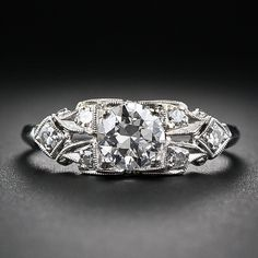 .70 Carat Art Deco Diamond Engagement Ring
