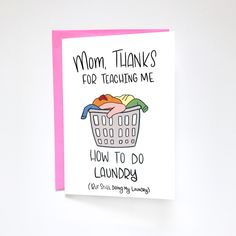 Mom Gifts Discover Funny Mothers Day Card Card from Daughter by Siyo Boutique Laundry Card Daughter to Mom Card Happy Mothers Day Funny Mom Card Cheeky Card Funny Mum Card Card For Mom Mom Birthday Card by SiyoBoutique on Etsy Mom Birthday Gift, Happy Birthday Mom Cards, Happy Birthday Mom From Daughter, Happy Birthday Mother, Happy Mother's Day Card, Birthday Quotes For Daughter, Mothers Day Gifts From Daughter, Funny Birthday Cards, Grandpa Birthday