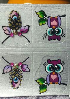 53 ideas nails art sencillo paso a paso Owl Nail Art, Owl Nails, Minion Nails, Funky Nail Art, Crazy Nail Art, Crazy Nails, Funky Nails, Trendy Nails, Cute Nail Designs