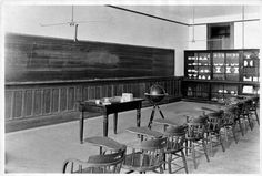 Jonas Clark Hall math classroom in 1893.