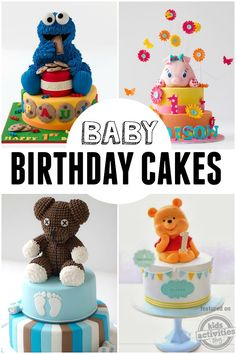 Aww! These baby birthday cakes are adorable!